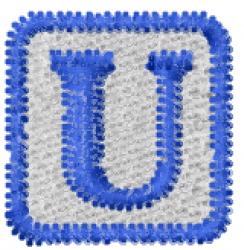 Baby Block U embroidery design
