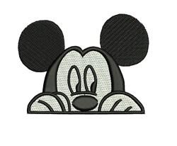 Peek A Boo Mickey embroidery design