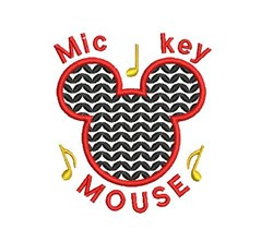 Music Mickey Mouse embroidery design