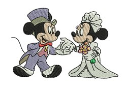 Minnie and Mickey Mouse embroidery design