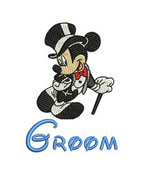 Mickey Mouse Groom embroidery design