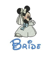 Minnie Mouse Bride embroidery design