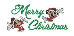 Mickey & Minnie Christmas embroidery design