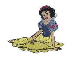 Snow White embroidery design