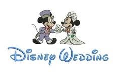 Disney Wedding embroidery design