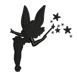 Tinkerbell Silhouette embroidery design