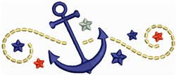 Anchors embroidery design