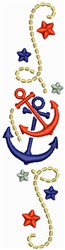 Anchors Border embroidery design