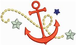 Ship Anchor embroidery design