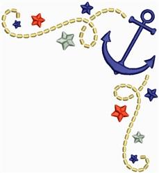 Anchor Corner embroidery design