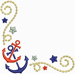 Anchors Corner embroidery design
