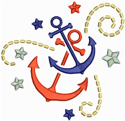 Boat Anchors embroidery design