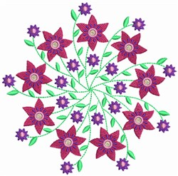 Floral Circles embroidery design