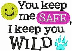 Keep Me Safe embroidery design
