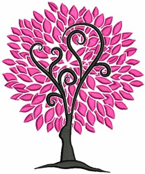 Pink Tree embroidery design