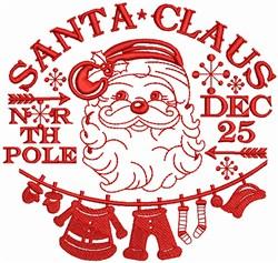Santa Claus North Pole embroidery design