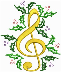 Christmas Music embroidery design