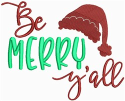 Be Merry Yall embroidery design