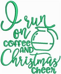 Coffee and Christmas embroidery design