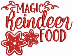 Magic Reindeer Food embroidery design