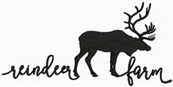 Reindeer Farm embroidery design