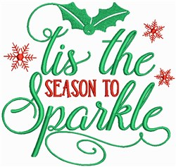This is the Season to Sparkle embroidery design