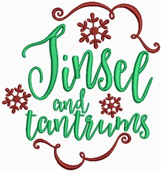Christmas Decorations - Tinsel and Tantrums embroidery design