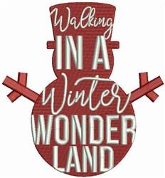 Winter Wonderland Snowman embroidery design