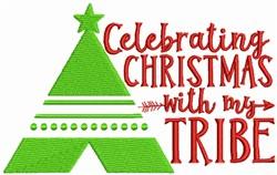 Christmas Teepee embroidery design