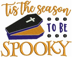 Season to be Spooky embroidery design