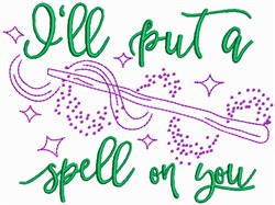 Spell on You embroidery design