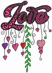Love - Whimsical embroidery design