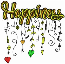 Happiness - Whimsical embroidery design
