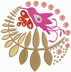 Abstract Hummingbird Quilt Pattern embroidery design