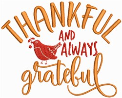 Thankful and Always Grateful embroidery design