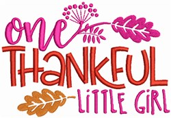 Thankful little Girl embroidery design