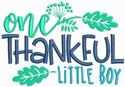 Thankful little Boy embroidery design