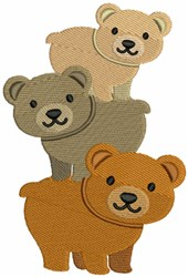 Cute Teddy Bears embroidery design