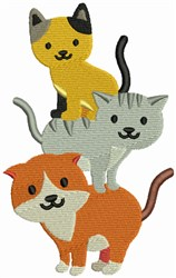 Cats embroidery design