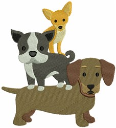 Dogs Puppies embroidery design