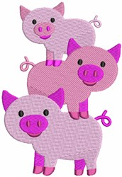 Farm Pigs embroidery design