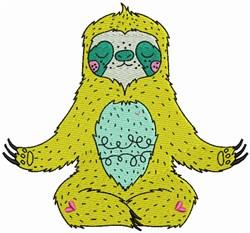Sloth Yoga embroidery design