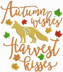 Autumn Wishes, Harvest Kisses embroidery design