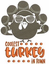 Coolest Turkey embroidery design