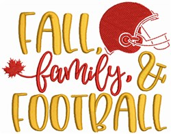 Fall Family and Football embroidery design