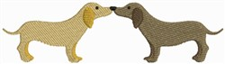 Kissing Dogs embroidery design