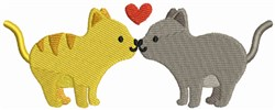 Kissing Cats embroidery design