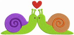 Kissing Snails embroidery design