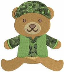 Military Bear embroidery design