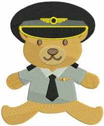 Pilot Bear embroidery design